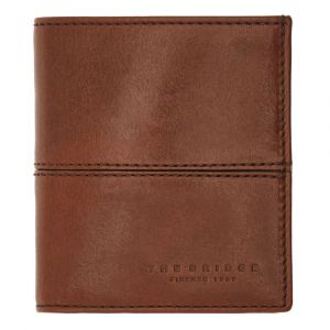 THE BRIDGE Vespucci Line – Brown Leather Vertical Wallet Made in Italy