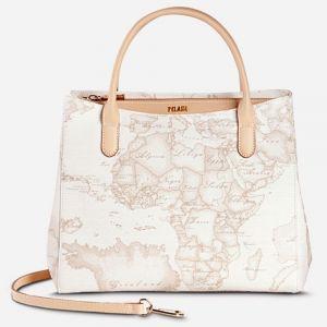 1A Classe Alviero Martini Geo White E003 - Small Handbag with Strap