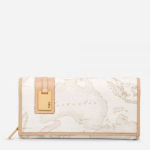 1A Classe Alviero Martini Geo White W026 - Large Wallet with External Pocket