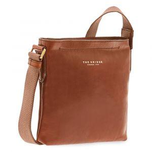 THE BRIDGE Lux Line – Brown Leather Crossbody Bag