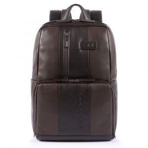 "PIQUADRO Leather Backpack Brown Porta Pc 14 ""and Porta iPad - CA3214UB00 Urban Line"